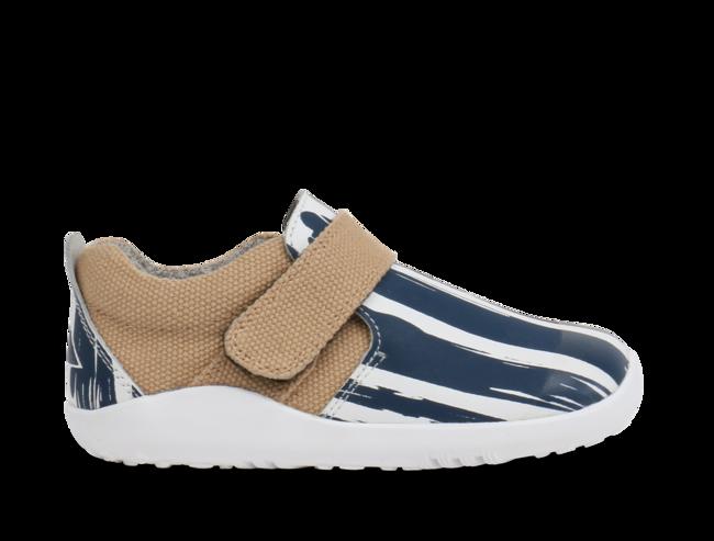 Aktiv Paint Shoe White Navy